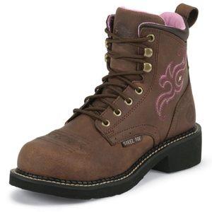 Justin Gypsy Katerina Aged Bark Steel Toe boot